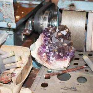 The rough Amethyst I selected